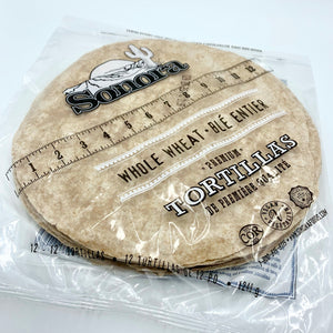 "12"" Tortillas (whole wheat)"