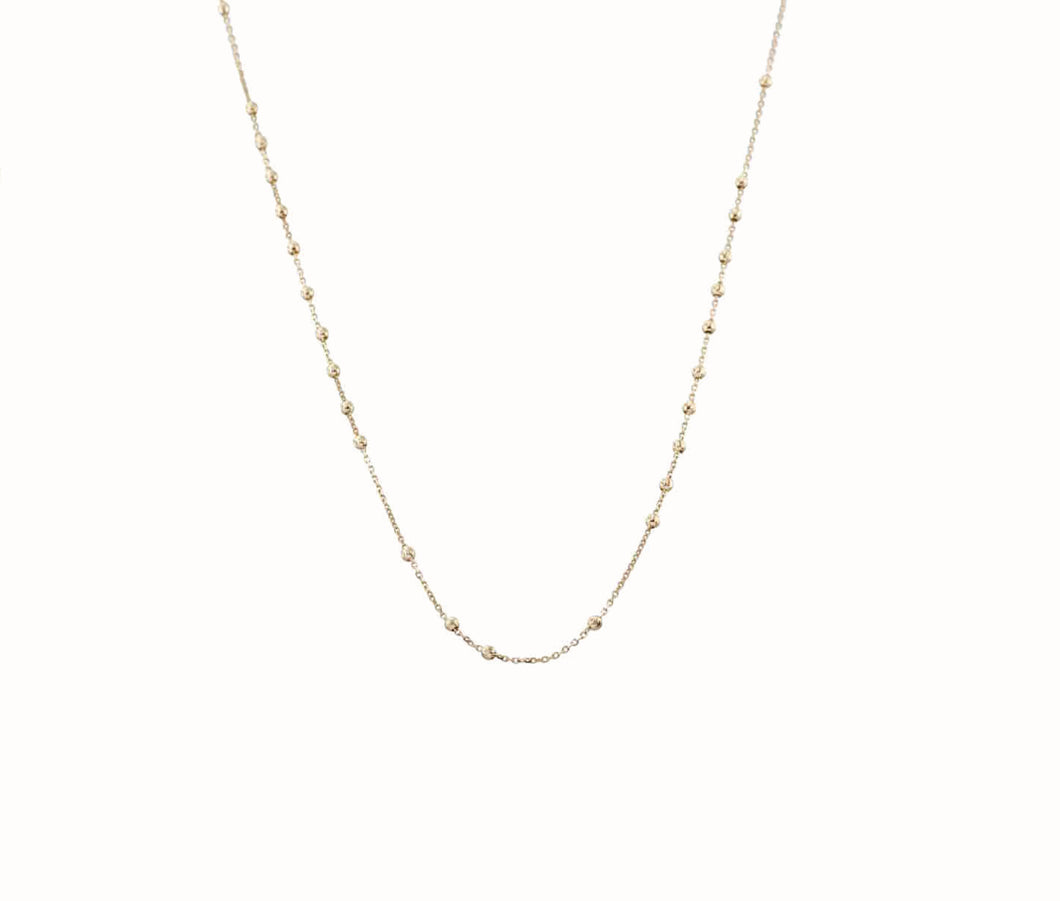 14k Rosary Chain Necklace