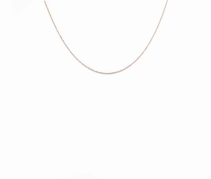 Fine Bead Adjustable Chain 14K Choker In Rose Gold