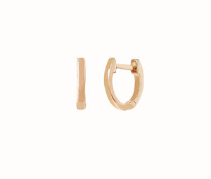 14k Gold Mini Huggie Earring In Rose Gold(Single)