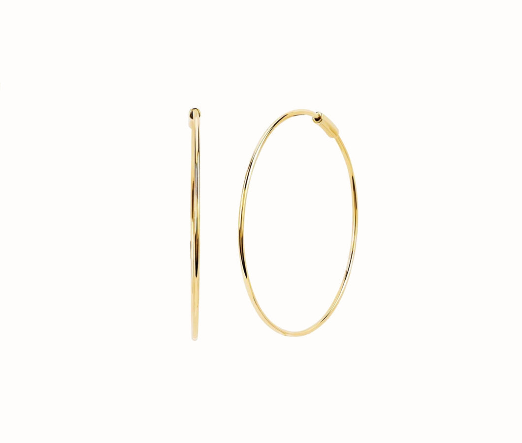 The Perfect Gold Hoop Earring In Yellow Gold