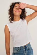 Load image into Gallery viewer, Sleeveless Babe Tee In White