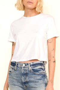 Babe Short Sleeve Tee In White