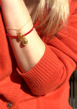 Load image into Gallery viewer, Hygieia Lucky Charm Granada Red beads Bracelet In Red/Gold