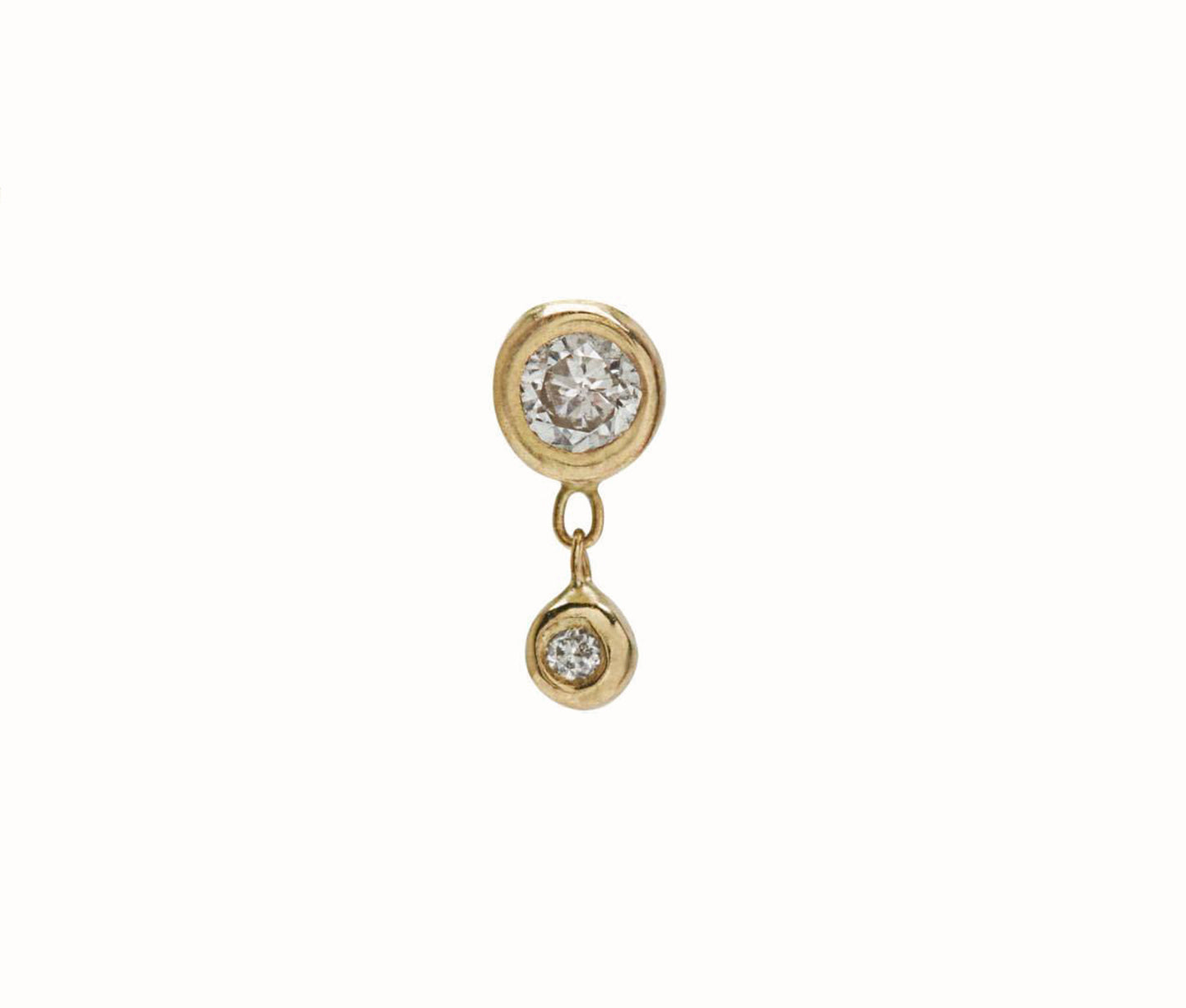 Bezel Drop 10K Yellow Gold / Diamond (Single)