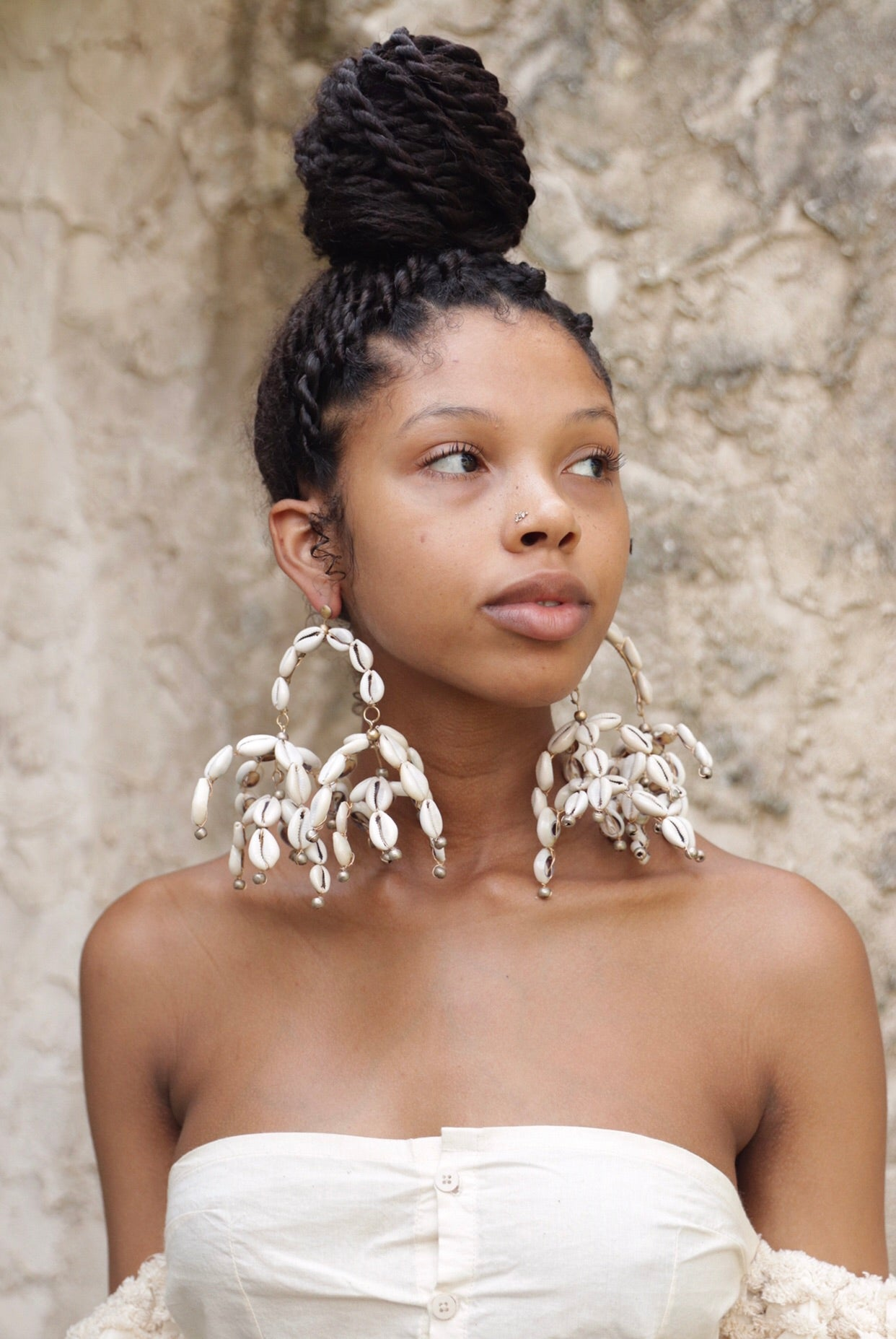 Cowrie Mobile Earrings