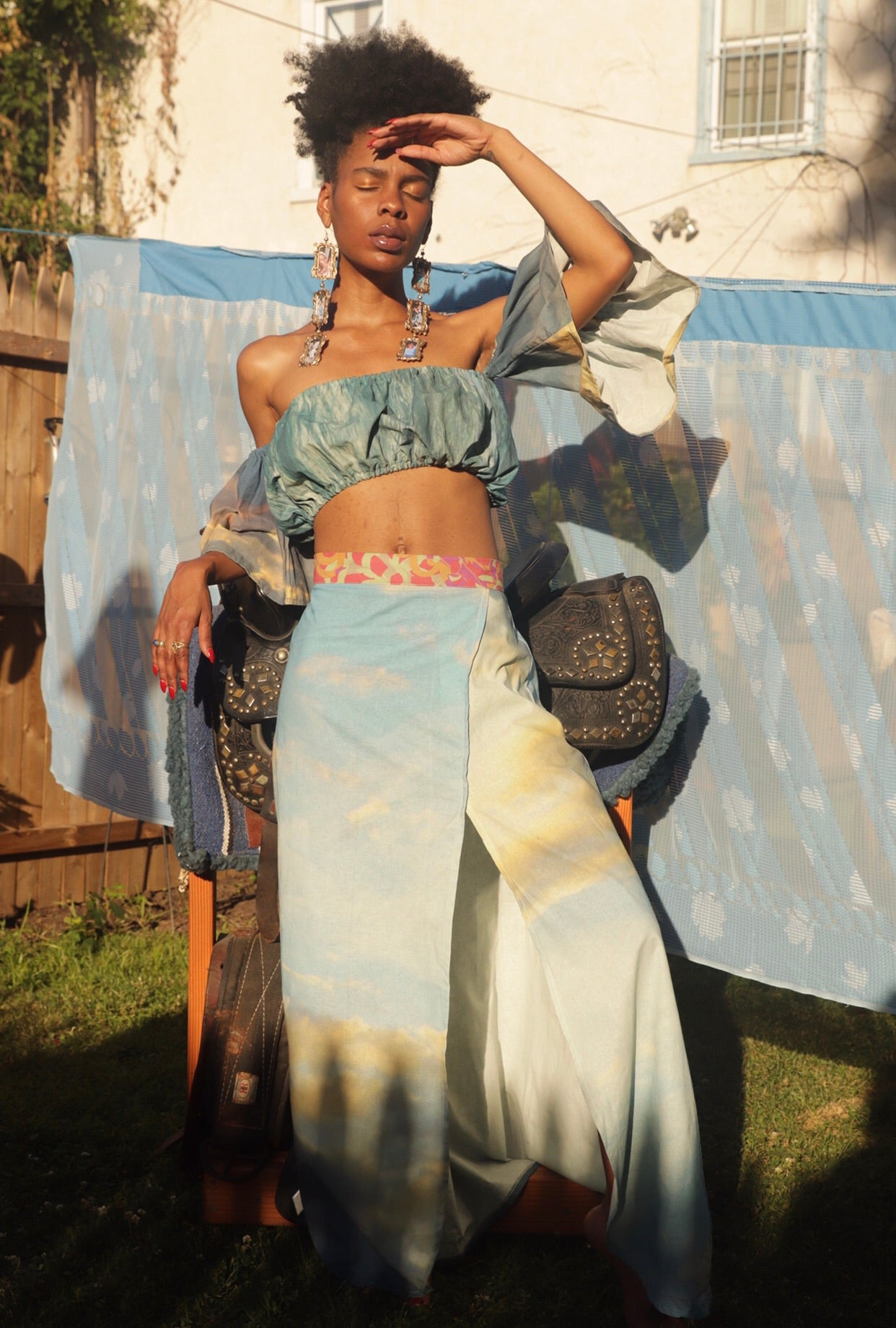Water & Sky Skirt Set