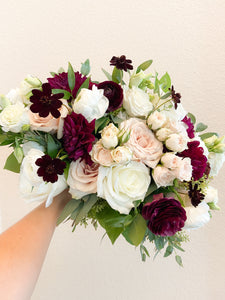 Burgundy & Blush: Bridal Bouquet