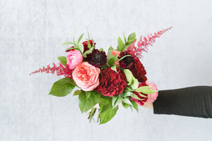 Berry Jewel: Bridesmaid Bouquet