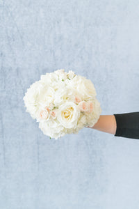 Classic White: Bridesmaid Bouquet