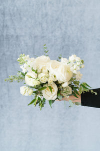 White Garden: Bridesmaid Bouquet