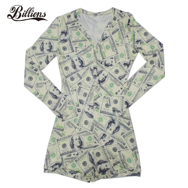 Money Mock Neck Onesie - Olashop Express