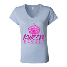 Load image into Gallery viewer, Kween Kloset Jersey V-Neck Tee S-2X