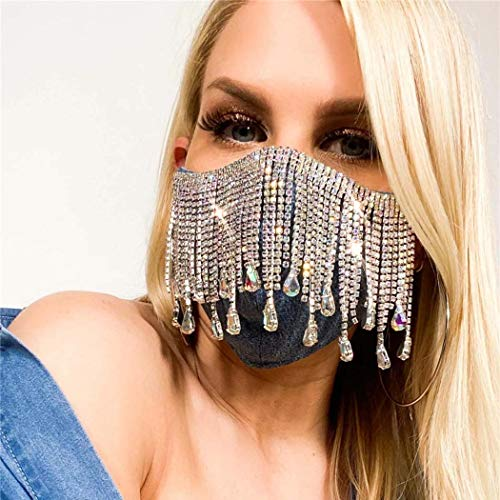 Custom Rhinestone Face Mask