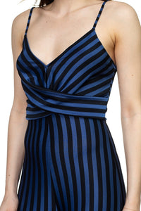 Stripe Front Twist Jumpsuit