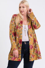 Load image into Gallery viewer, Plus Size Flower Print Pocket Flower Print Hacci Cardigan - Kween Kloset