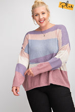 Load image into Gallery viewer, Striped Light Weight Knitted Sweater Top