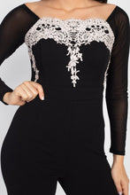 Load image into Gallery viewer, Self Tie Lace Embroidered Jumpsuit