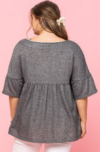 Load image into Gallery viewer, Solid French Pullover Terry Woven Top