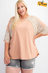 Soft Poly Cotton Animal Print Mix Loose Fit Top
