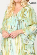 Load image into Gallery viewer, Tie Dye Multi Color Printed Maxi Dress With Lace Up