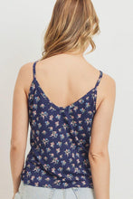 Load image into Gallery viewer, Printed Jersey Front Gathered Sleeveless Top