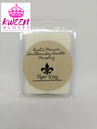 Tiger King (Sandalwood) Soy Wax Melts Kween Kloset X Rustic Mama