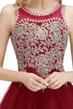 Load image into Gallery viewer, Luxury Beads Stones Lace Homecoming Dresses Sexy Open Back Lace Up Back Short Evening Prom Dresses
