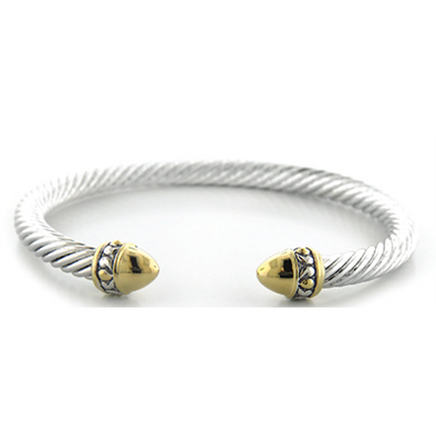 Nouveau Small Gold Dome Wire Cuff