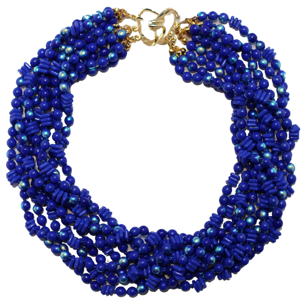 Multi Strand Blue Necklace