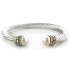 Ocean Collection Large Pearl Wire Cuff Bracelet