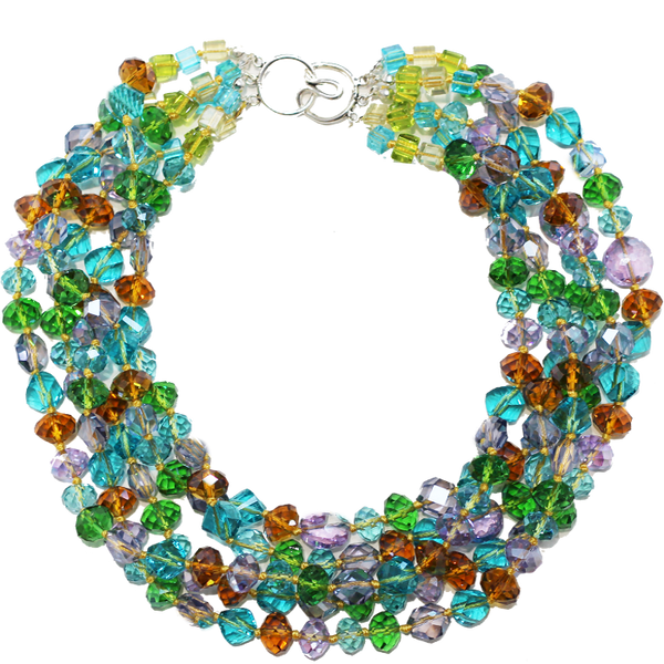 Multi Colored Crystal Necklace