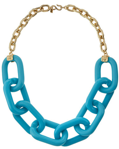 Turquoise Tone Chain Necklace