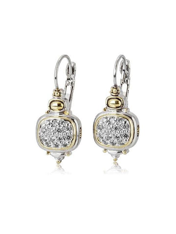 Pave Nouveau French Wire Earrings