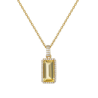 Citrine emerald cut PENDANT