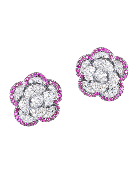 Floral Clip Earrings