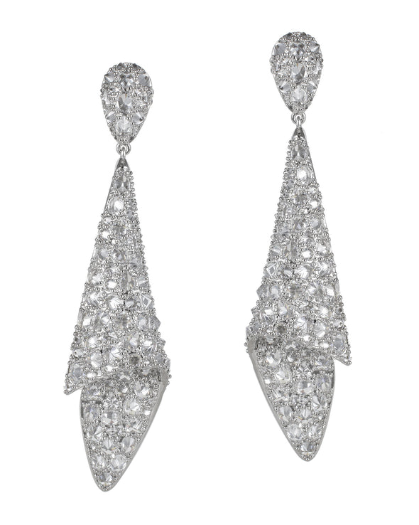 Pave Drape Earrings