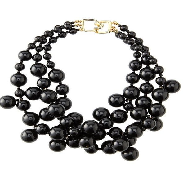 Black Bauble Necklace