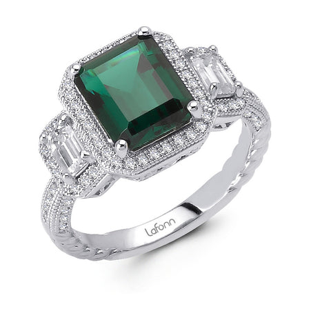 Deco Emerald Ring
