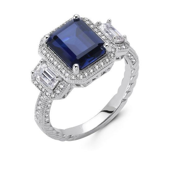 Deco Sapphire Ring