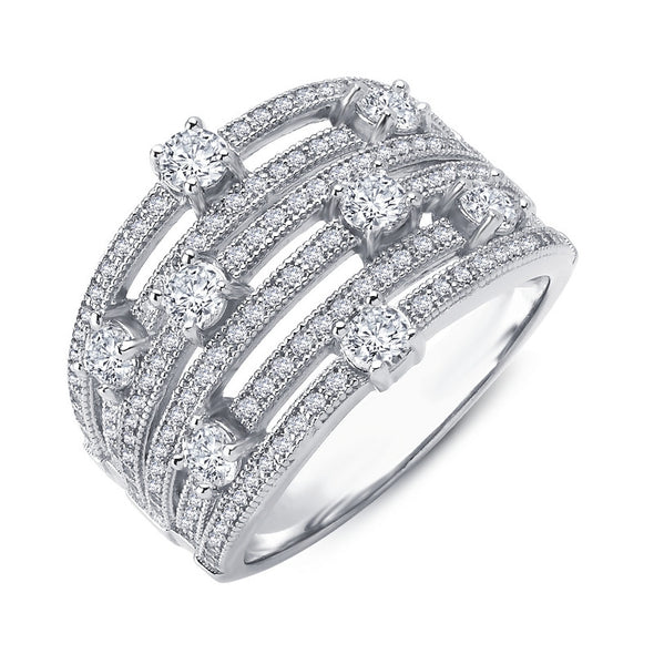 Multi Diamond Floral Band