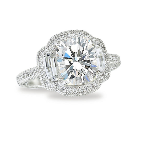 Diamond Cushion Ring