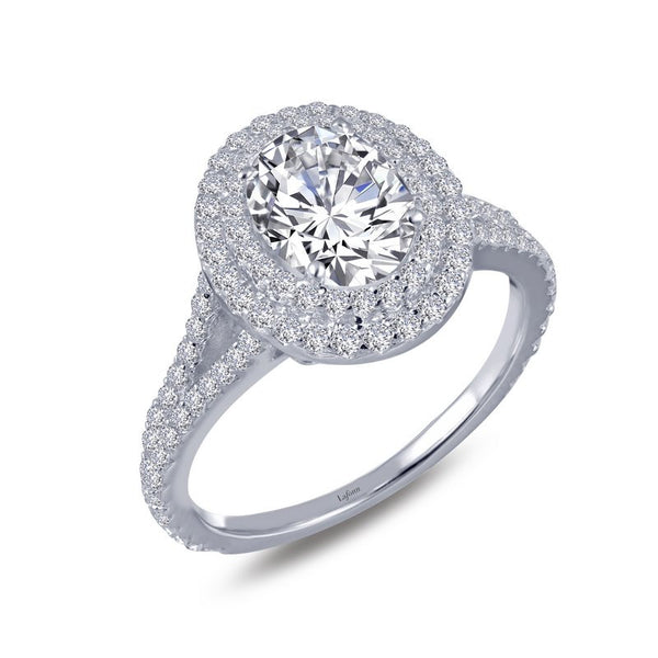 Diamond Oval Halo Ring