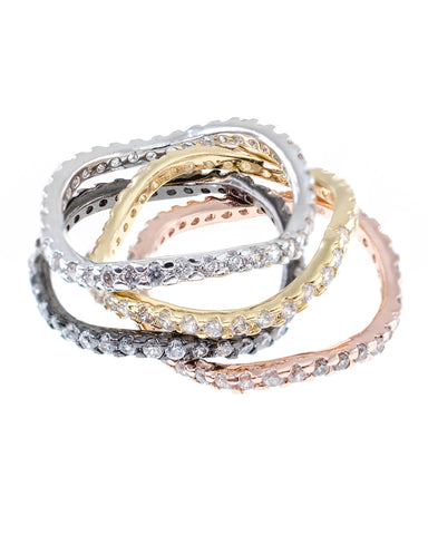 Stacked Wavy Band Rings