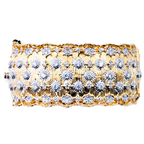 Gold Filigree Accent Bracelet
