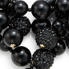 Black Pave Bauble Necklace