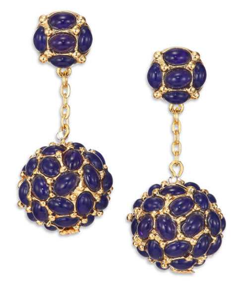 Blue Cluster Drop Earrings