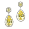 Canary Halo Drop Earrings
