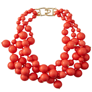 Coral Bauble Necklace