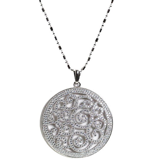 Swirling Pendant Necklace